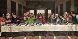 African American Last Supper 8in x 4in